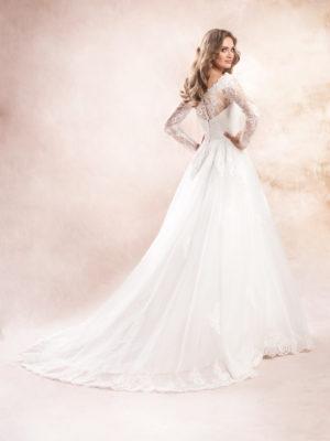 Brautkleid Mode De Pol Agnes Boho Herzausschnitt Organza A Linie Ka 19136t 02