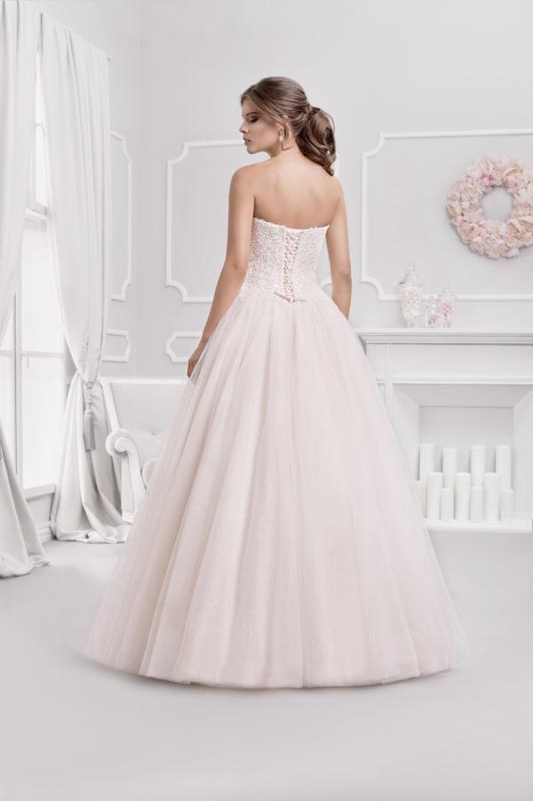 Brautkleid Mode De Pol Agnes Glitzertüll Perlen Pailletten Schnürung Herzausschnitt Tüll Prinzessin Trägerlos Ka 18076 02