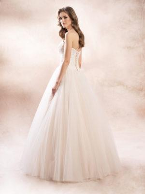 Brautkleid Mode De Pol Agnes Glitzertüll Schnürung Perlen Pailletten 3d Optik Herzausschnitt Tüll Prinzessin Trägerlos Ka 19086 02