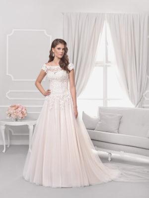 Brautkleid Mode De Pol Agnes Pailletten Blumendeko Herzausschnitt Tüll A Linie Carmen Ka 18075t 01