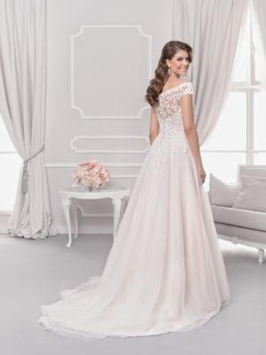 Brautkleid Mode De Pol Agnes Pailletten Blumendeko Herzausschnitt Tüll A Linie Carmen Ka 18075t 02