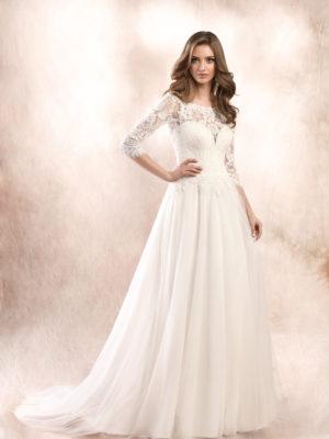 Brautkleid Mode De Pol Agnes Schlicht Herzausschnitt Tüll A Linie Ka 19047t 01