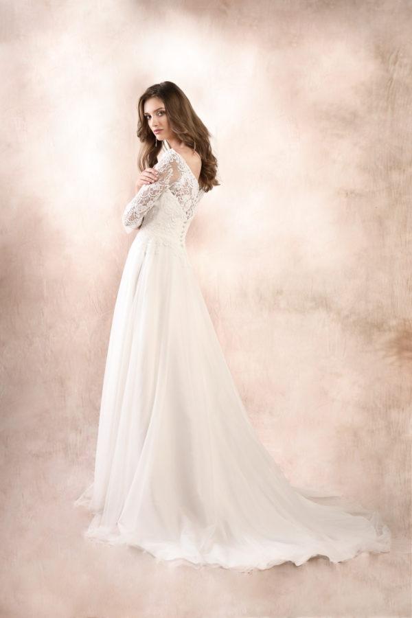 Brautkleid Mode De Pol Agnes Schlicht Herzausschnitt Tüll A Linie Ka 19047t 02
