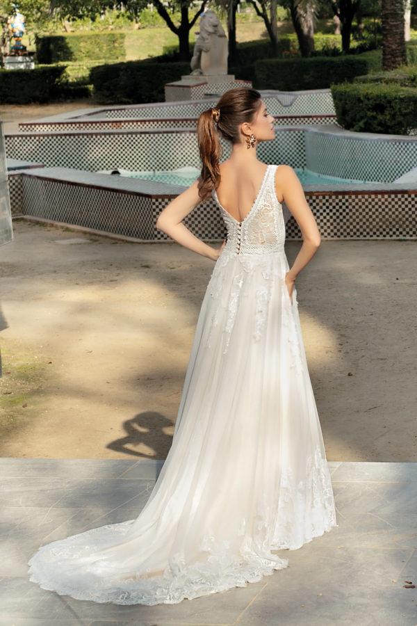Brautkleid Mode De Pol Agnes Bridal Dream A Linie Etui Spitze Tuell Herzausschnitt Transparent Glitzerfrei Blumendeko Ka 20025t 02.jpg