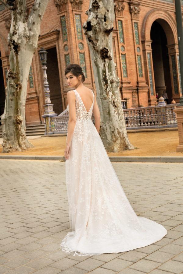 Brautkleid Mode De Pol Agnes Bridal Dream A Linie Etui Tuell Spitze V Ausschnitt Transparent Blumendeko Allover Spitze Ka 20031t 02.jpg