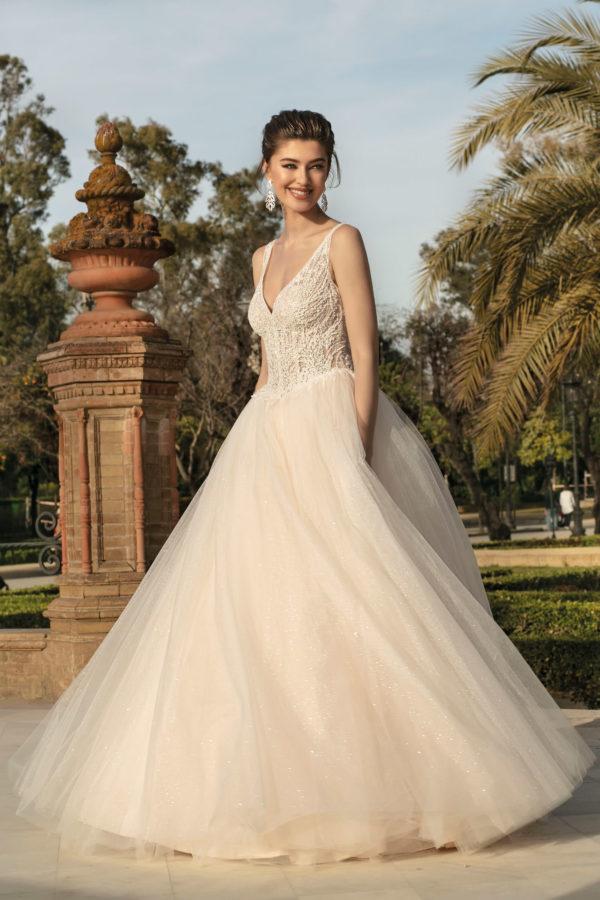 Brautkleid Mode De Pol Agnes Bridal Dream A Linie Prinzessin Tuell Herzausschnitt Glitzertuell Transparent Perlen 3d Optik Ka 20003 01.jpg