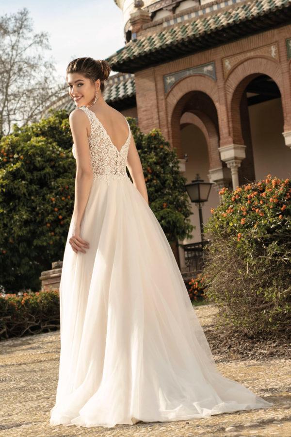 Brautkleid Mode De Pol Agnes Bridal Dream A Linie Tuell Herzausschnitt Glitzertuell Transparent Blumendeko 3d Optik Perlen Ka 20076t 02.jpg