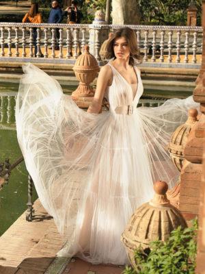 Brautkleid Mode De Pol Agnes Bridal Dream A Linie Tuell V Ausschnitt Guertel Mit20querlaeufer Schlicht Boho Ka 20073 01.jpg