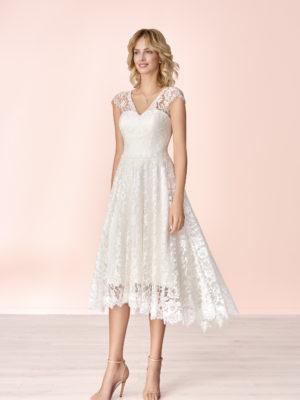 Brautkleid Mode De Pol Elizabeth Allover Spitze Herzausschnitt Spitze A Linie Schulterträger E 4180 01