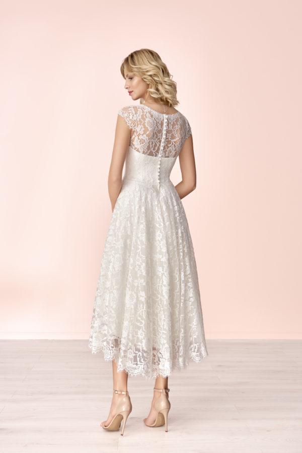 Brautkleid Mode De Pol Elizabeth Allover Spitze Herzausschnitt Spitze A Linie Schulterträger E 4180 02