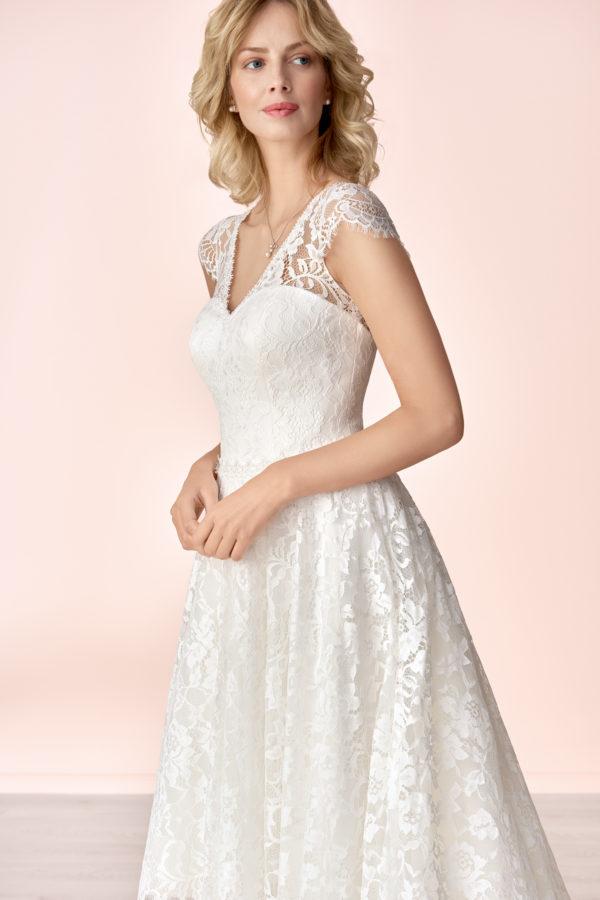 Brautkleid Mode De Pol Elizabeth Allover Spitze Herzausschnitt Spitze A Linie Schulterträger E 4180 03