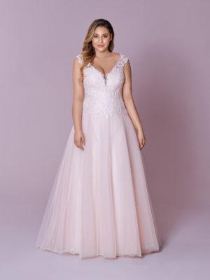 Brautkleid Mode De Pol Elizabeth Glitzertüll Curvy Herzausschnitt Tüll A Linie Prinzessin Schulterträger M 132t 01