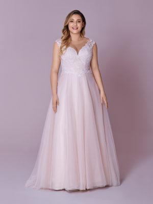 Brautkleid Mode De Pol Elizabeth Glitzertüll Curvy Pailletten Herzausschnitt Tüll A Linie Schulterträger M 103t 01