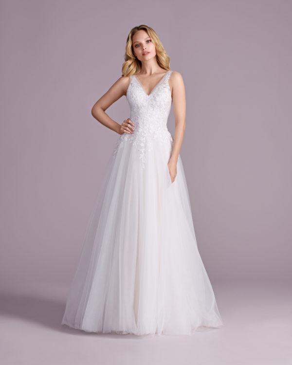 Brautkleid Mode De Pol Elizabeth Glitzertüll Pailletten Herzausschnitt Tüll A Linie Schulterträger E 4578t 01