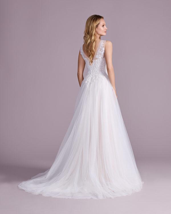 Brautkleid Mode De Pol Elizabeth Glitzertüll Pailletten Herzausschnitt Tüll A Linie Schulterträger E 4578t 02