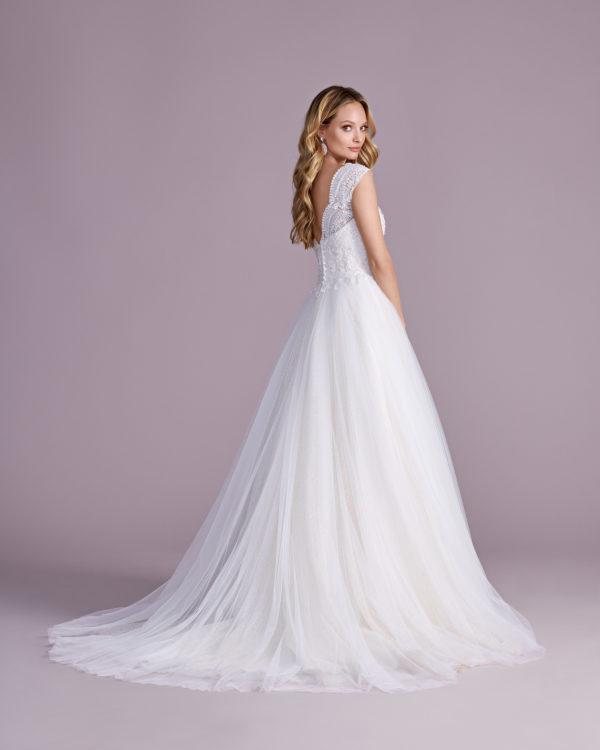 Brautkleid Mode De Pol Elizabeth Glitzertüll Perlen Pailletten Herzausschnitt Tüll Prinzessin Schulterträger E 4475t 02