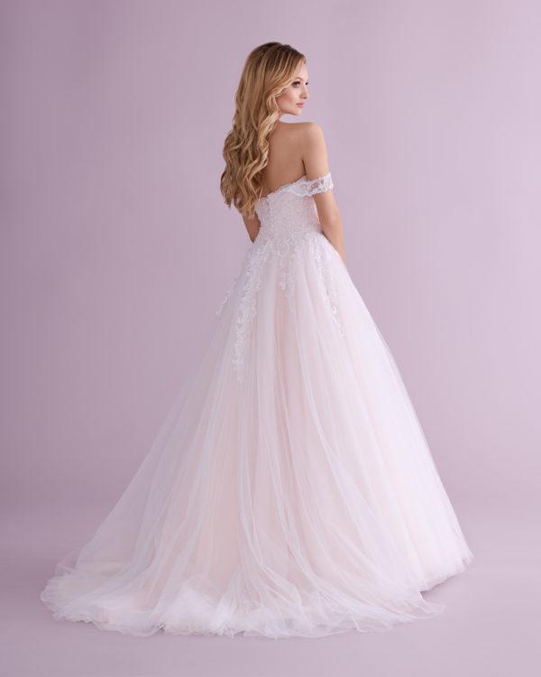 Brautkleid Mode De Pol Elizabeth Glitzertüll Perlen Pailletten Herzausschnitt Tüll Prinzessin Schulterträger Trägerlos E 4479t 02