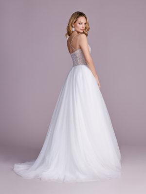 Brautkleid Mode De Pol Elizabeth Glitzertüll Perlen Pailletten Transparent Herzausschnitt Tüll A Linie Schulterträger E 4543t 02