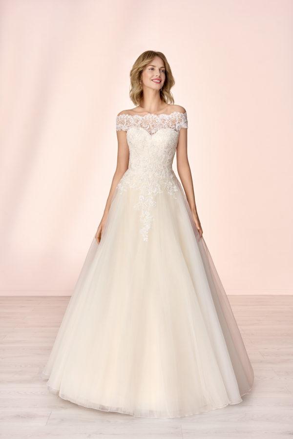 Brautkleid Mode De Pol Elizabeth Pailletten Glitzertüll Herzausschnitt Organza Prinzessin A Linie Carmen E 4104t 01