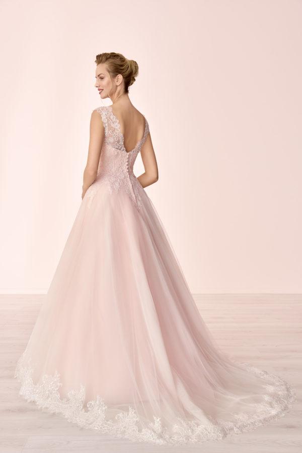 Brautkleid Mode De Pol Elizabeth Pailletten Rocksaum Herzausschnitt Tüll Prinzessin A Linie Schulterträger E 4063t 02