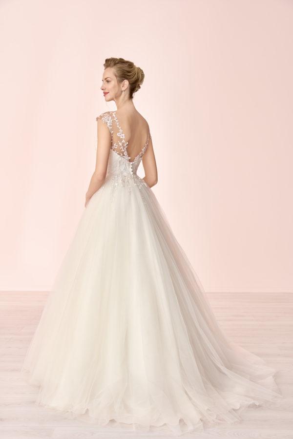 Brautkleid Mode De Pol Elizabeth Tattoo Spitze Blumendeko Herzausschnitt Tüll Prinzessin A Linie E 4081t 02