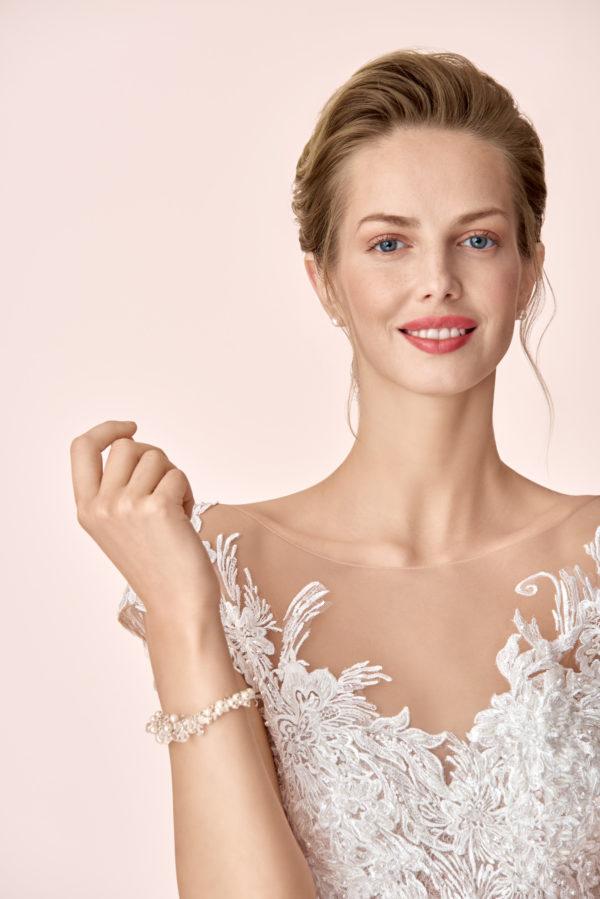 Brautkleid Mode De Pol Elizabeth Tattoo Spitze Transparent Glitzertüll Pailletten Herzausschnitt Tüll A Linie E 4083t 02