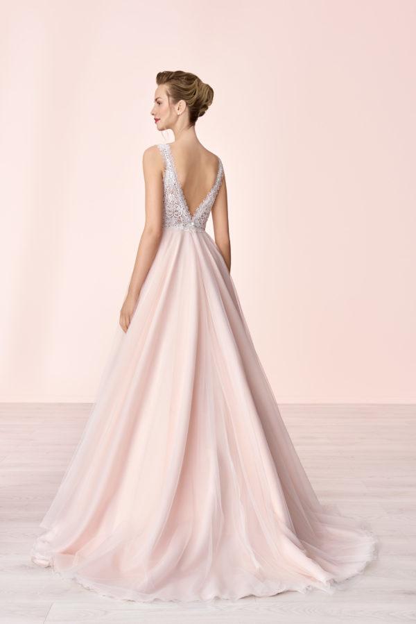 Brautkleid Mode De Pol Elizabeth Transparent Perlen V Ausschnitt Herzausschnitt Tüll Prinzessin A Linie Schulterträger E 4046t 02