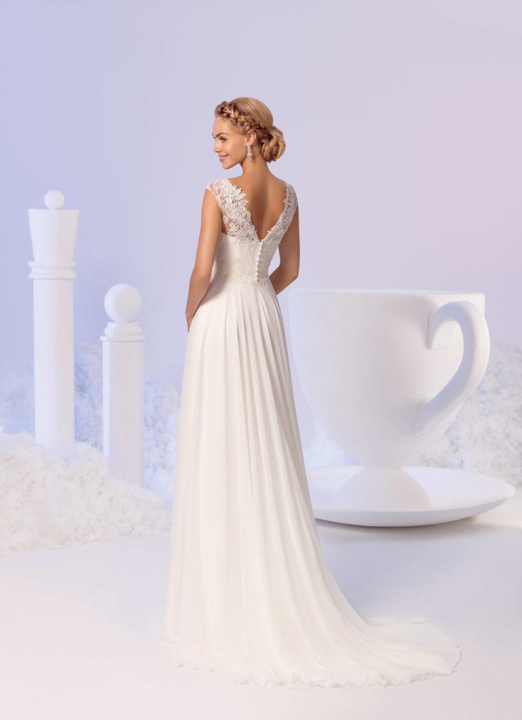 Brautkleid Mode De Pol Empire Für Schwangere Ärmellos Flügel Herzausschnitt Chiffon Spitze Schulterträger E 3800nt 02