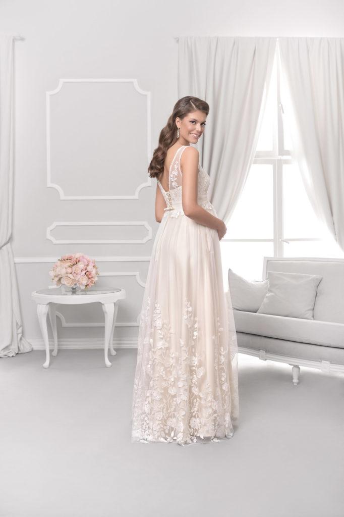 Brautkleid Mode De Pol Für Schwangere Ärmellos Herzausschnitt Spitze Tüll Schulterträger Nc 05 02