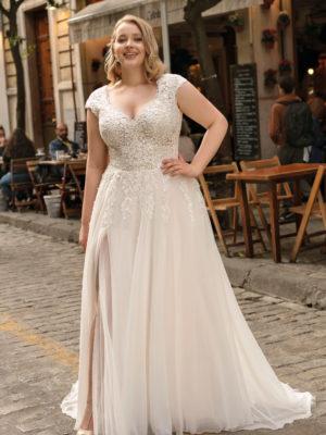 Brautkleid Mode De Pol Lovely A Linie Chiffon Tuell Herzausschnitt Curvy Mit20schlitz Blumendeko Lo 212t 01.jpg