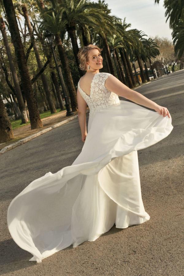 Brautkleid Mode De Pol Lovely A Linie Empire Chiffon Tuell Herzausschnitt Transparent Curvy Blumendeko Pailletten Lo 236t 02.jpg