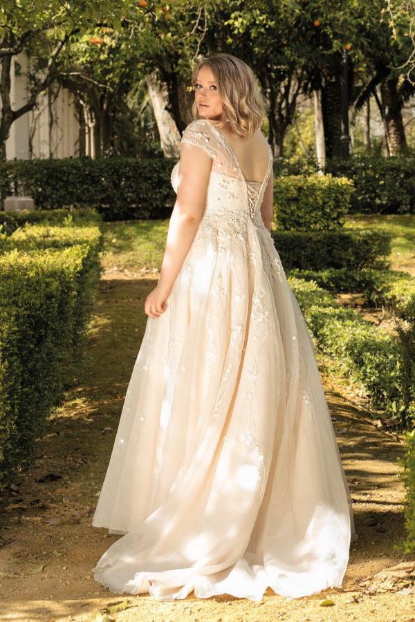 Brautkleid Mode De Pol Lovely A Linie Prinzessin Organza Tuell Herzausschnitt Schnuerung Curvy Blumendeko 3d Optik Pailletten Perlen Lo 193t 02.jpg