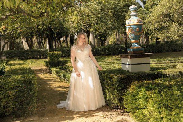 Brautkleid Mode De Pol Lovely A Linie Prinzessin Organza Tuell Herzausschnitt Schnuerung Curvy Blumendeko 3d Optik Pailletten Perlen Lo 193t 04.jpg
