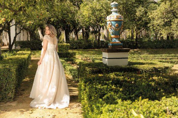 Brautkleid Mode De Pol Lovely A Linie Prinzessin Organza Tuell Herzausschnitt Schnuerung Curvy Blumendeko 3d Optik Pailletten Perlen Lo 193t 05.jpg