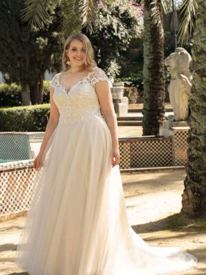 Brautkleid Mode De Pol Lovely A Linie Tuell Herzausschnitt Glitzertuell Schnuerung Curvy Schlicht Blumendeko Lo 223t 01.jpg