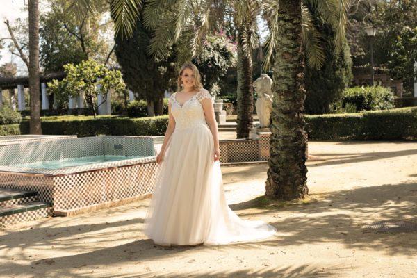 Brautkleid Mode De Pol Lovely A Linie Tuell Herzausschnitt Glitzertuell Schnuerung Curvy Schlicht Blumendeko Lo 223t 04.jpg