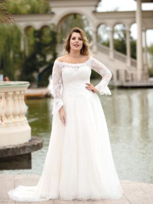 Brautkleid Mode De Pol Lovely Curvy Pailletten Herzausschnitt Tüll A Linie Carmen Lo 151t 01 1.jpg