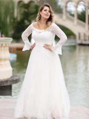 Brautkleid Mode De Pol Lovely Curvy Pailletten Herzausschnitt Tüll A Linie Carmen Lo 151t 02 1.jpg