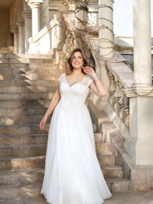 Brautkleid Mode De Pol Lovely Schnürung Curvy Herzausschnitt Chiffon A Linie Schulterträger Lo 129 01 1.jpg