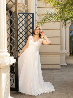 Brautkleid Mode De Pol Lovely Schnürung Curvy Herzausschnitt Chiffon A Linie Schulterträger Lo 137t 01 1.jpg