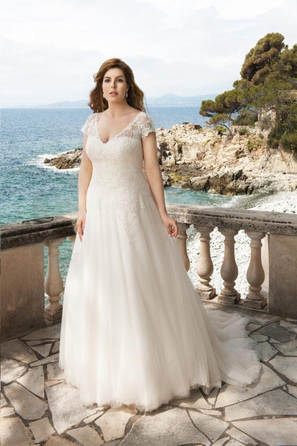 Brautkleid Mode De Pol Lovely Schnürung Curvy Herzausschnitt Tüll Prinzessin A Linie Schulterträger Lo 39t 01 1.jpg