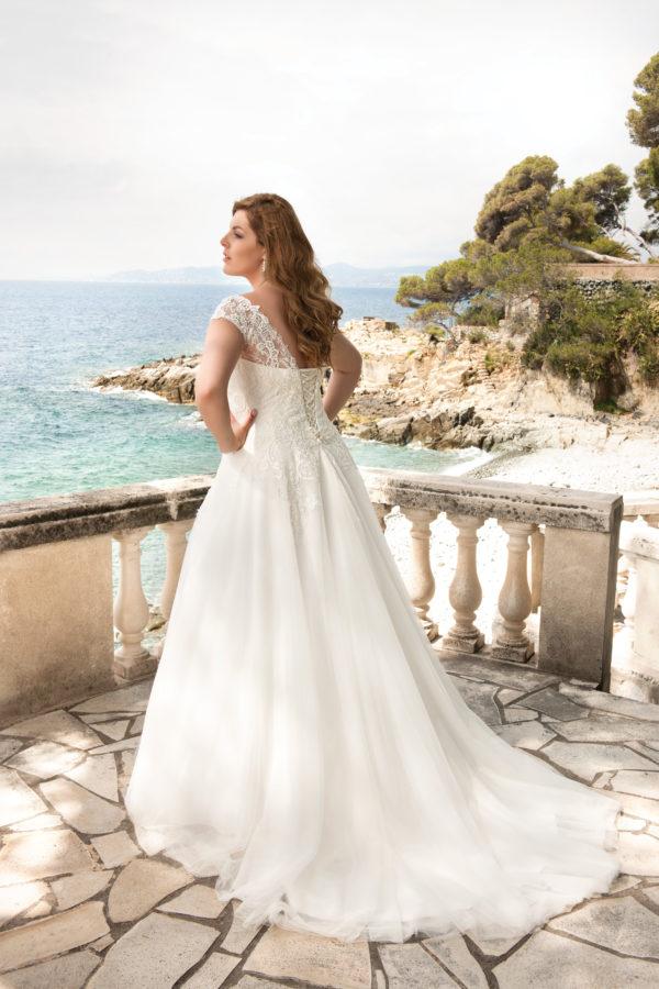 Brautkleid Mode De Pol Lovely Schnürung Curvy Herzausschnitt Tüll Prinzessin A Linie Schulterträger Lo 39t 02 1.jpg