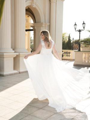Brautkleid Mode De Pol Lovely Schnürung Curvy Pailletten Herzausschnitt Chiffon A Linie Schulterträger Lo 124t 02 1.jpg