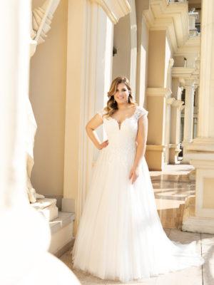 Brautkleid Mode De Pol Lovely Schnürung Curvy Perlen Pailletten 3d Optik Herzausschnitt Tüll A Linie Prinzessin Schulterträger Lo 166t 01 1.jpg