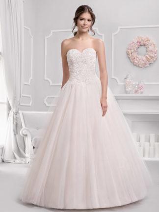 Brautkleid Mode De Pol Prinzessin Ärmellos Herzausschnitt Tüll Spitze Trägerlos Ka 18076t 01