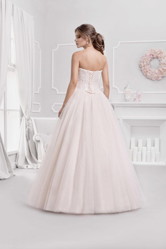 Brautkleid Mode De Pol Prinzessin Ärmellos Herzausschnitt Tüll Spitze Trägerlos Ka 18076 02
