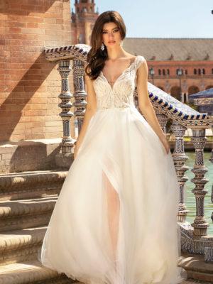 Brautkleid Mode De Pol Theone A Linie Tuell Chiffon Herzausschnitt V Ausschnitt Transparent Mit20schlitz Perlen 3d Optik To 1187t 01.jpg
