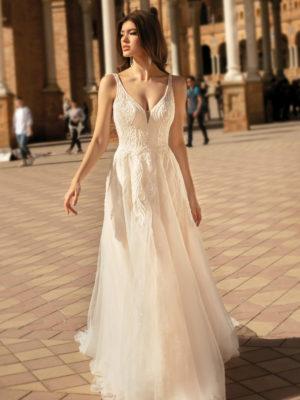 Brautkleid Mode De Pol Theone A Linie Tuell Spitze V Ausschnitt Herzausschnitt Glitzertuell 3d Optik Pailletten Perlen To 1173t 01.jpg