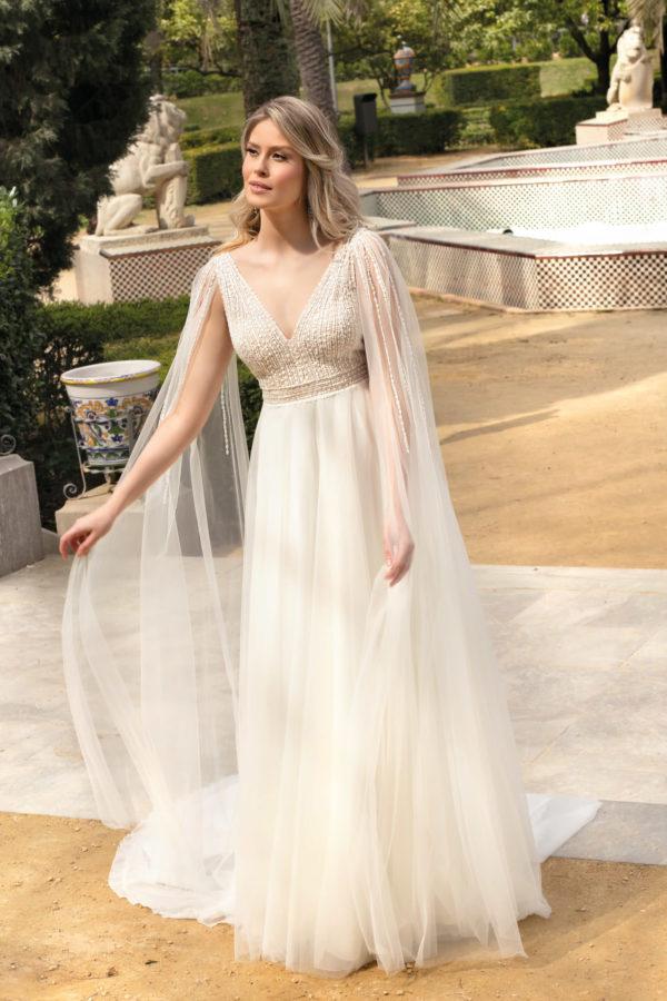 Brautkleid Mode De Pol Theone A Linie Tuell V Ausschnitt Herzausschnitt Transparent Pailletten Volants To 1211t 01.jpg