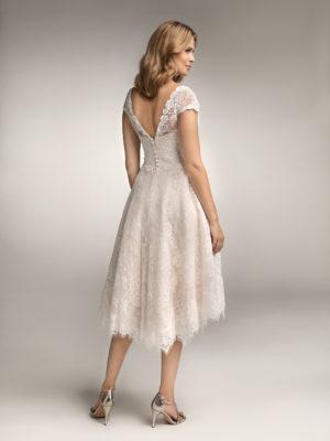 Brautkleid Mode De Pol Theone Allover Spitze Herzausschnitt Spitze Kurz Schulterträger To 938 02